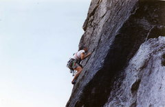 Rock Climbing Photo: Al Grahn pulling the roof