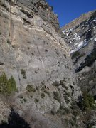 Rock Climbing Photo: Spencer reaches the first ledge. A really good res...
