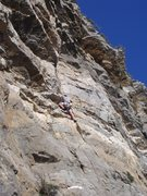 Rock Climbing Photo: At this spot the route starts to feel long and the...