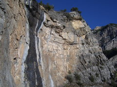 Rock Climbing Photo: The far right side of the Waterfall Wall. Skywalkw...