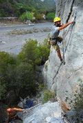 Rock Climbing Photo: Chris loving the Potrero