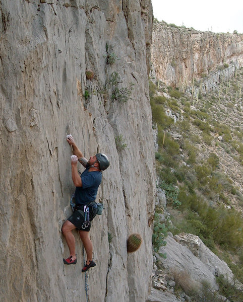 "Rock Climbing Photo: Rockin it at the Homestead on ""K9 Karma""..."