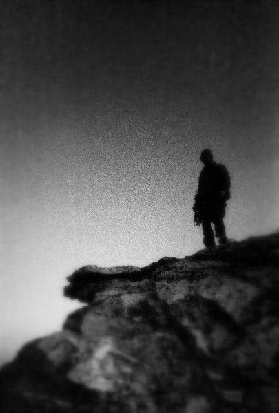 Rock Climbing Photo: Near the Summit of Black Velvet Peak.
