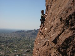 Rock Climbing Photo: This is on a 10b left of the rap. It's a nice rout...