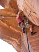 Rock Climbing Photo: Setting up for the fun roof! Photo taken by Arno I...