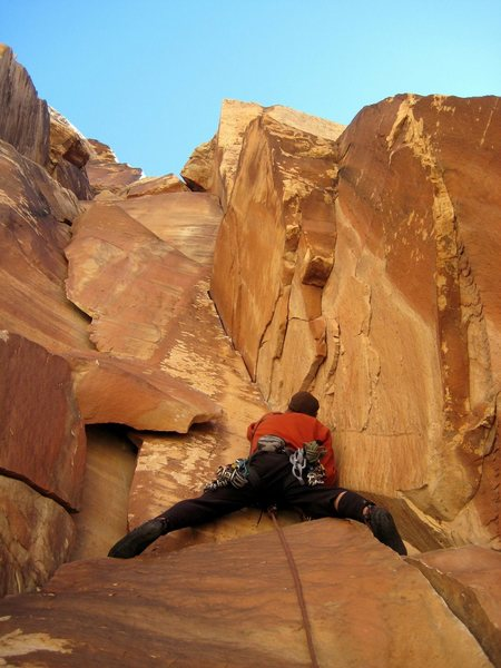 "Rock Climbing Photo: Just befor the ""hard"" moves on p1"
