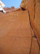 Rock Climbing Photo: The crux!