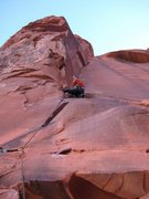 Rock Climbing Photo: Me on my onsite of The Fox.  Pure fun!