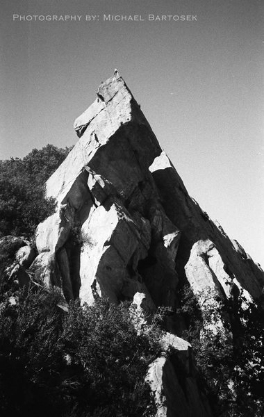 Rock Climbing Photo: Photo of the edge of the slabs as seen from the tr...