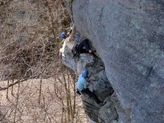 Rock Climbing Photo: At the 11d crux!