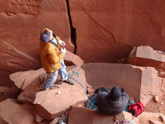 Rock Climbing Photo: Getting ready for the onsight (Anunnaki)