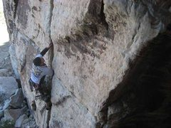 Rock Climbing Photo: Josh quickly getting deeper than hands at the star...