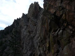 Rock Climbing Photo: Matt onsight soloing Blind Faith. Good job bro!