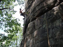 Climbing in New River Gorge.
