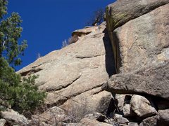 Rock Climbing Photo: Routes on the NW face. 1. 5.8 Dihedral. Gear finge...