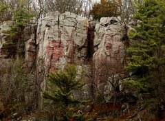Rock Climbing Photo: Unknown climber on the East Bluff, April 18, 2009....