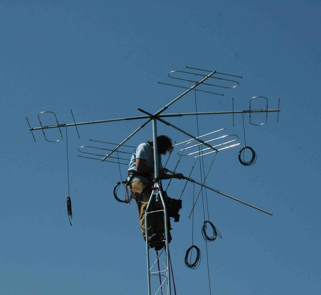erecting automated radio telemetry antennas
