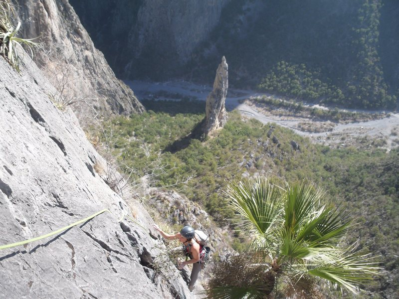 Rock Climbing Photo: THis one captures the feel of the route pretty wel...