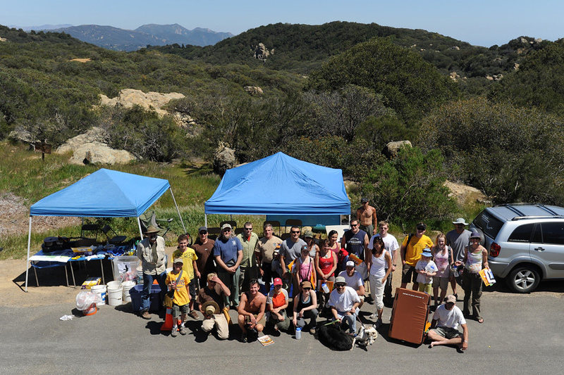 April 18th marked the return of the Lizards Mouth Clean-Up, following 2 consecutive brush fires which closed the area to climbing (and cleaning).  Forty-five individuals donated their time & energy, and the site continues to look better and better.  Thank you to everyone involved!