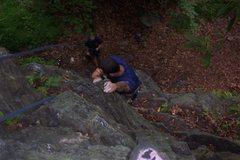 Rock Climbing Photo: Joey on 'Lactic Acid and Ladybugs' 5.11b