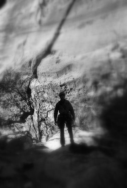 Rock Climbing Photo: Taken in the Black Velvet Canyon drainage near Epi...