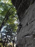 Rock Climbing Photo: The slab of Twinkie, prob. 5.10c?