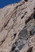 Rock Climbing Photo: Claire on East Chimney, Longs Peak