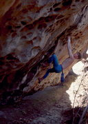 Rock Climbing Photo: Shane Rymer on 2nd ascent of Moonlight Drive Trave...