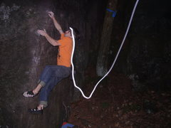 Rock Climbing Photo: Cool shot, my headlamp was doing wild things. Phot...