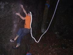Rock Climbing Photo: Cool shot, my headlamp was doing wild things. Phot...