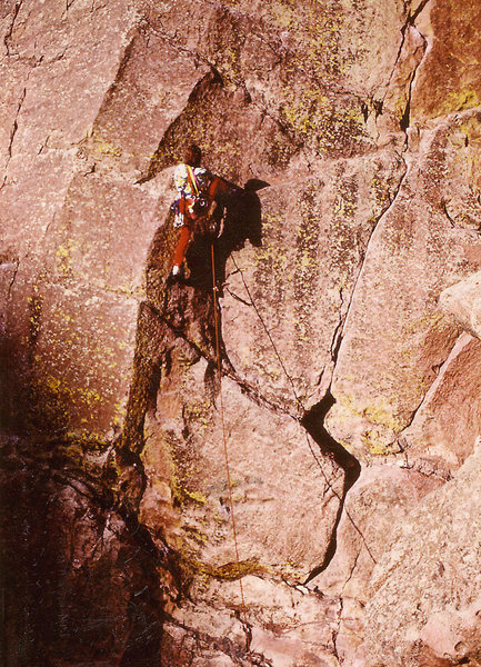 Rock Climbing Photo: Hair City, Eldo. Back in the early 80's.