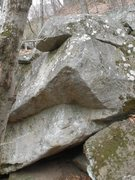 Rock Climbing Photo: Start on two slopey holds in a seam with a slopey ...
