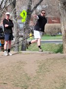 Rock Climbing Photo: I play a lot of disc golf these days. This is me, ...