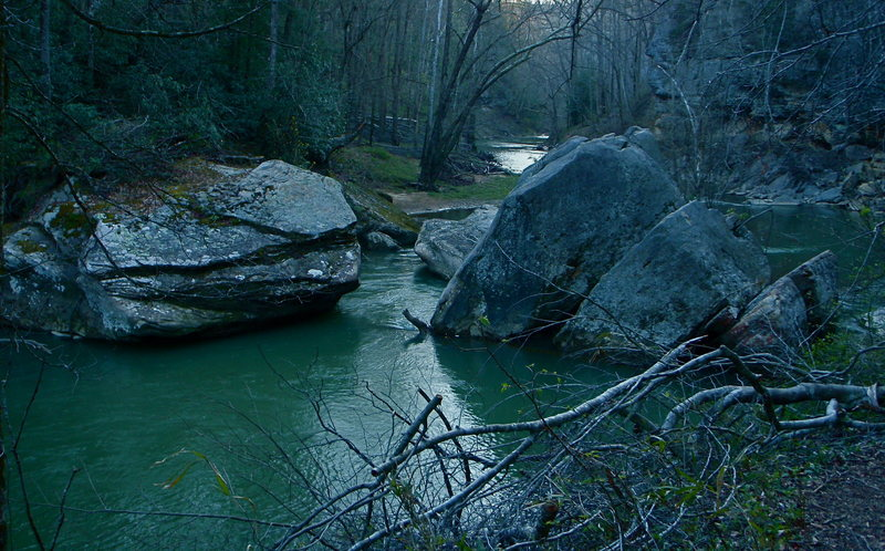 Rock Climbing Photo: The Red River in the Upper Gorge.