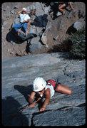 Rock Climbing Photo: Good, clean fun for the kids--Iris Slab