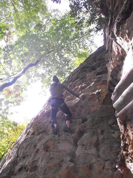 Rock Climbing Photo: Stay left
