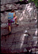Rock Climbing Photo: John McMullen bouldering at the Tombstone Wall Are...