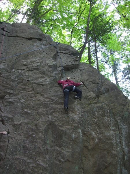 Rock Climbing Photo: Sarah halfway up Glenn's Route.