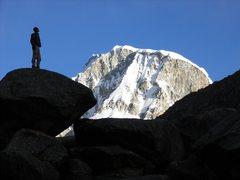 Rock Climbing Photo: Marveling the N-Face of Ranrapalca/Cordillera Blan...