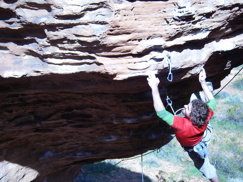 Rock Climbing Photo: NY on Banana Dance (11d) at Turtle Wall in Saint G...
