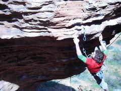 Rock Climbing Photo: NY on Banana Dance (11d) at Turtle Wall in Saint G...
