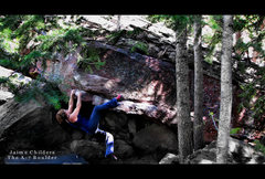 Rock Climbing Photo: Jaime Childers on the A-7 boulder.  Cool problem.