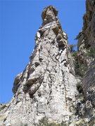 Rock Climbing Photo: Doug Cornick heading working out the crux on Hyrax...