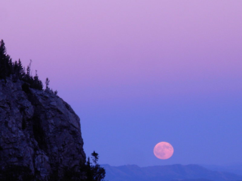 Teton moonrise.