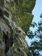 Rock Climbing Photo: Chillin' at the crux!?!