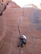 Rock Climbing Photo: Through the crux.