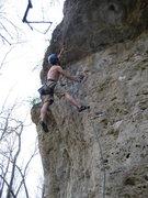 Rock Climbing Photo: Jon going for it