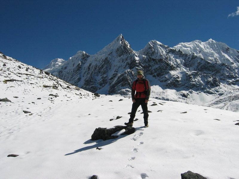 Rock Climbing Photo: Enjoying the sun before the storm on Mount Ausenga...