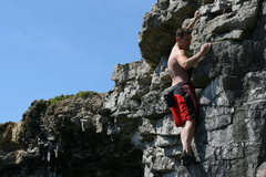 Rock Climbing Photo: Deep water solo fun at Portland Bill, UK