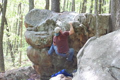 Rock Climbing Photo: Fixing to top out.